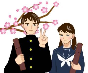 春の行事(卒業・入学・文字)イラスト素材まとめ