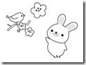 桜 塗り絵用白黒イラストまとめその11