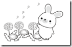 桜 塗り絵用白黒イラストまとめその13