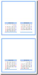 シンプルなカレンダー5