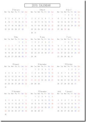 シンプルなカレンダー9