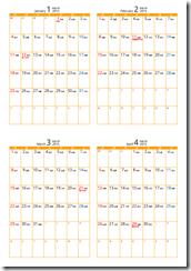 シンプルなカレンダー20